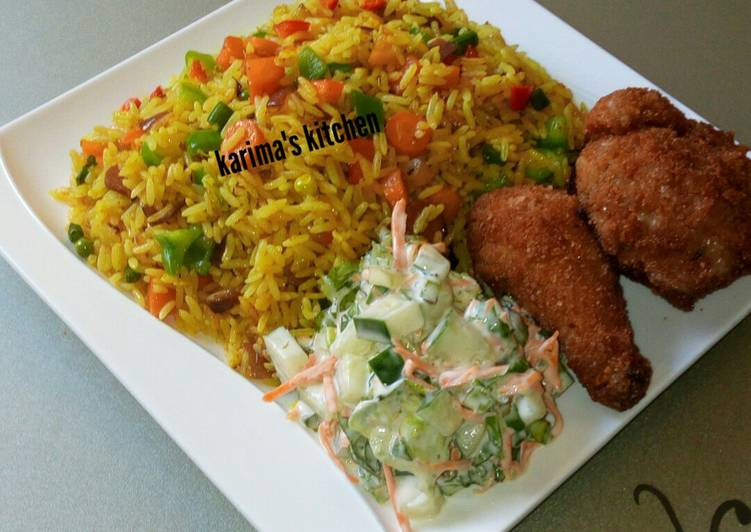 fried rice and chicken recipe main photo 6
