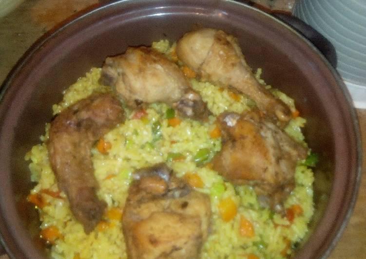 fried rice and chicken recipe main photo