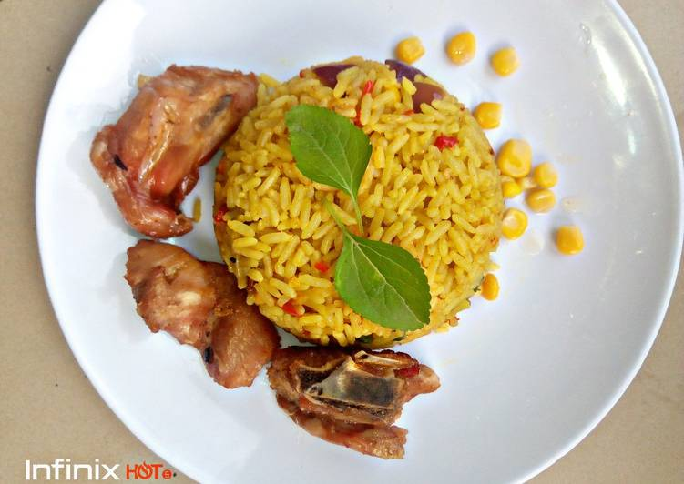 fried rice with chicken recipe main photo 1