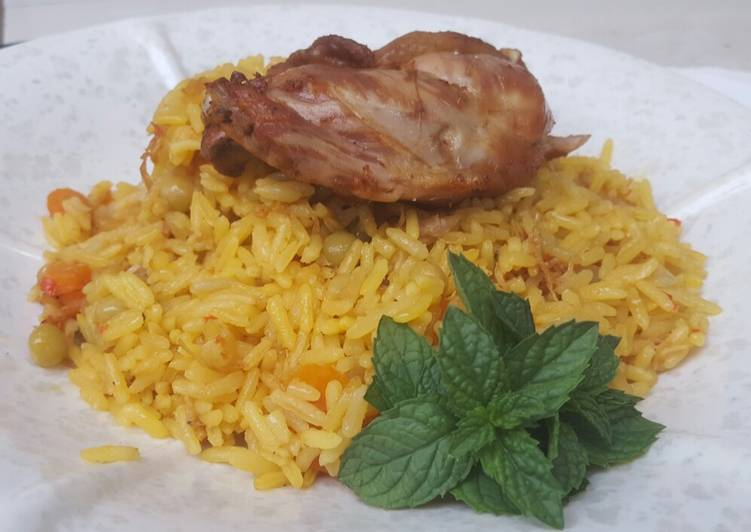 fried rice with fried chicken recipe main photo