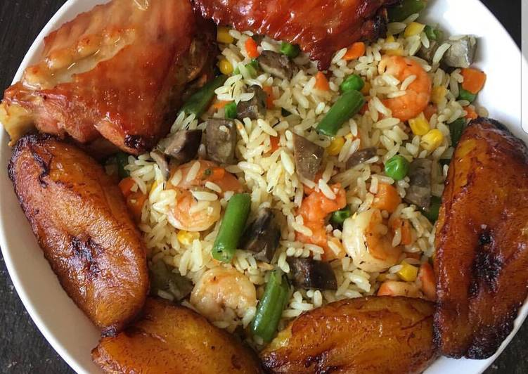 fried rice with plantain recipe main photo