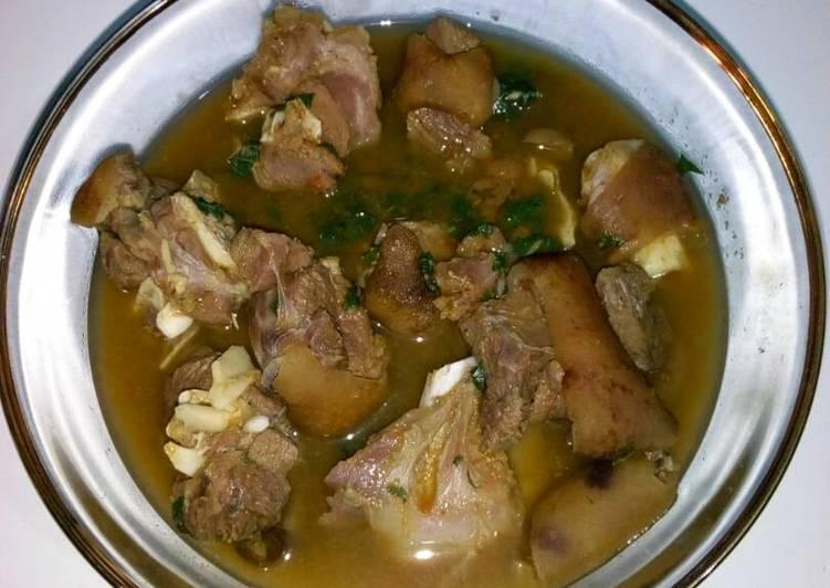 goat meat pepper with utazi recipe main photo