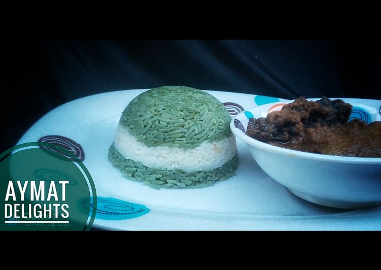 green white green rice recipe main photo