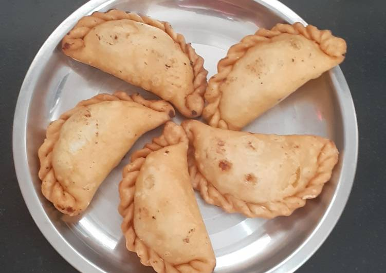 gujiya the traditional way recipe main photo