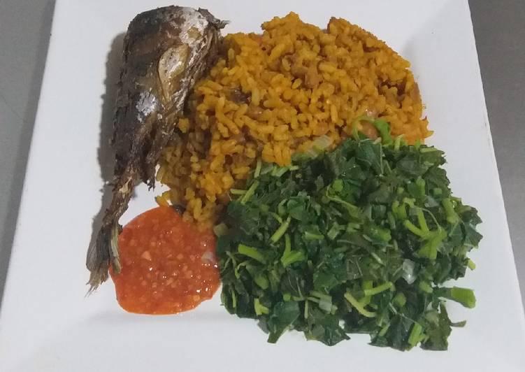 African Cuisine Jollof Rice and Beans