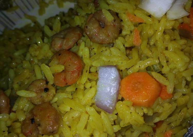 Traditional African Foods #Kadunastate Shrimp fried rice