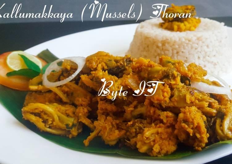 kallumakkaya mussels thoran recipe main photo