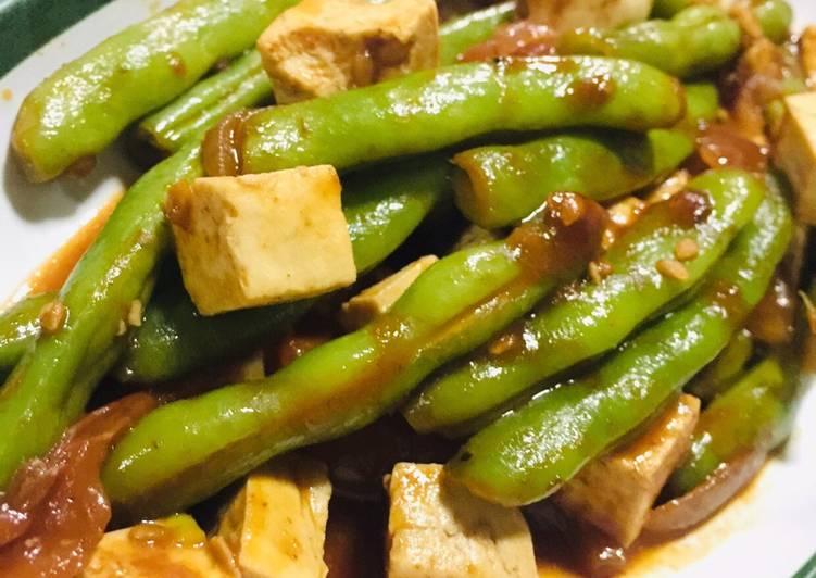 korean inspired green beans stir fry recipe main photo