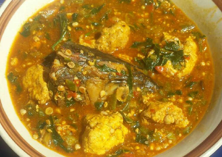 lumps of egusi in okra and ogbono soup recipe main photo 1
