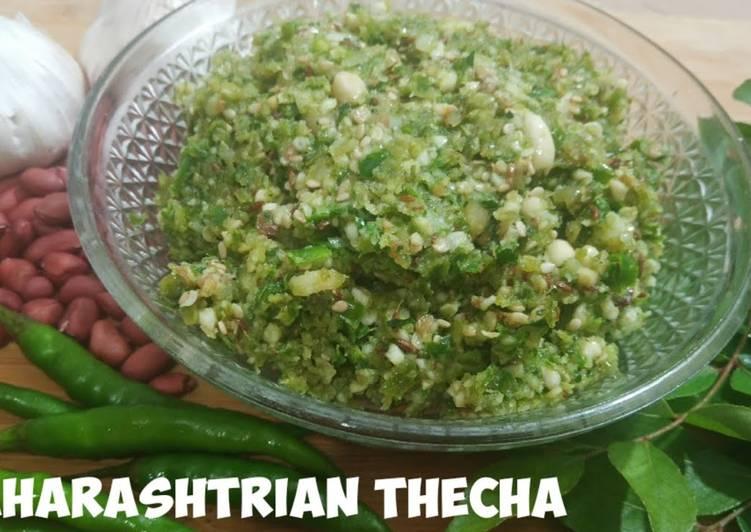 Maharashtra ki Traditional Thecha Chutney Recipe