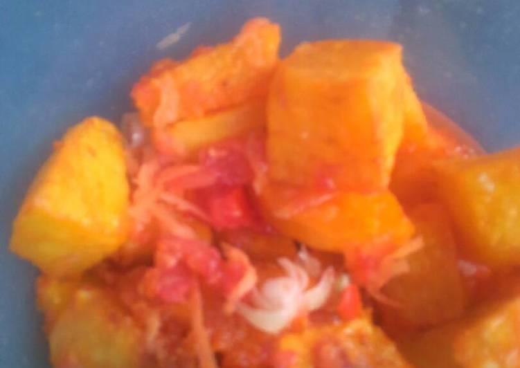 mashed african bajia with fresh kachumbari recipe main photo