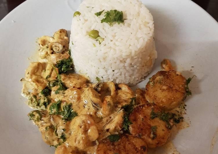 my garlic seared scallops and fish medley 😘 recipe main photo