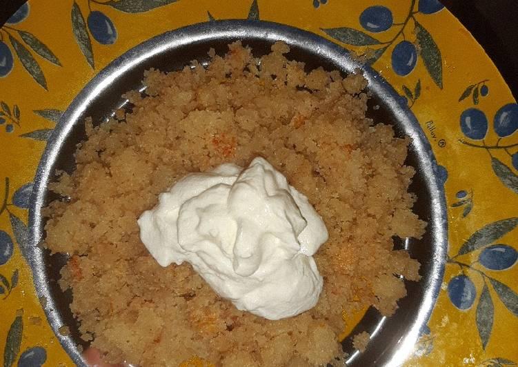 my non traditional makhani halwa recipe main photo