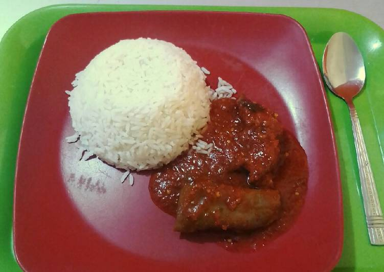 my very simple cow leg stew white rice recipe main photo