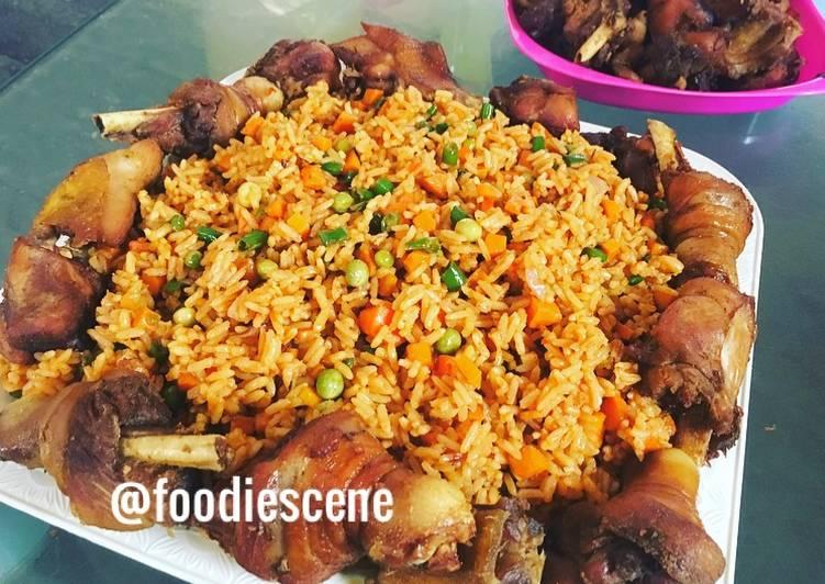 nigeria party jollof with vegetables recipe main photo