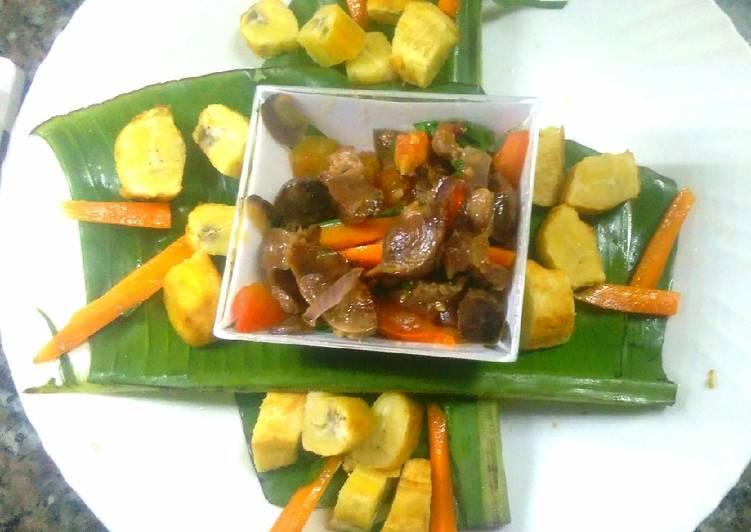 nigerian gizdodo gizzard and banana recipe main photo