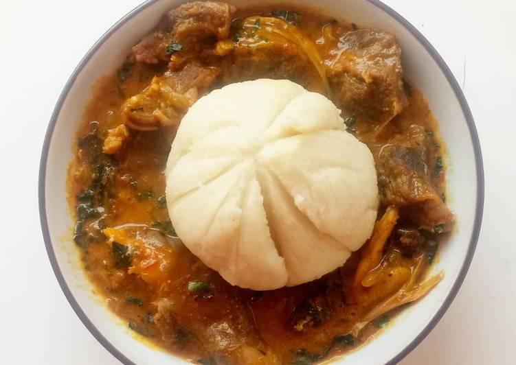 ogbono soup with fufu recipe main photo 1