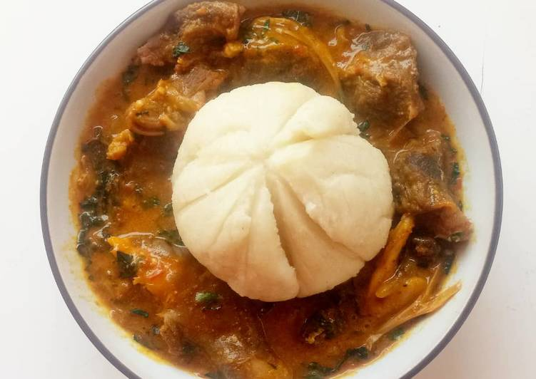 Ogbono soup with fufu