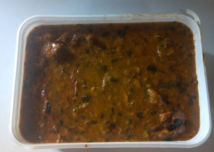 ogbono soup with goat meat and dry fish recipe main photo