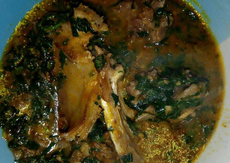 ogbono soup with pumpkin leaves recipe main photo