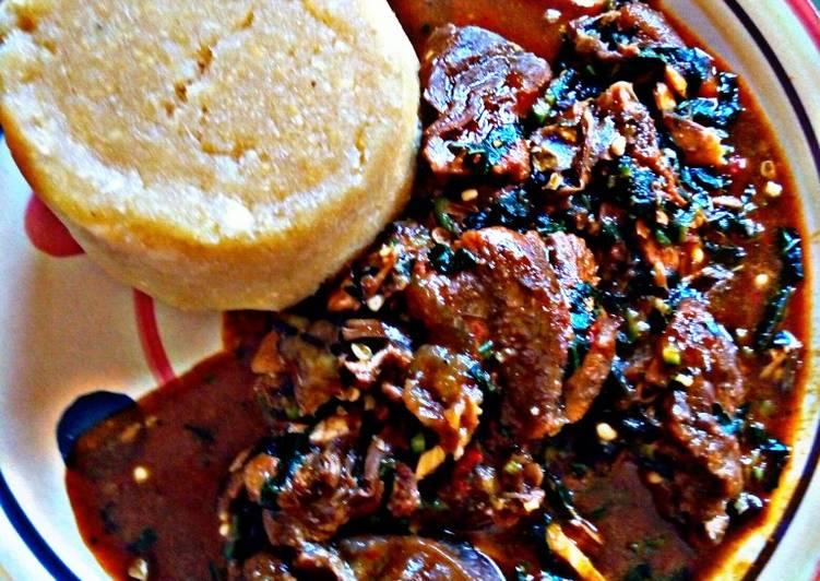 ogbono with okra and ugu recipe main photo