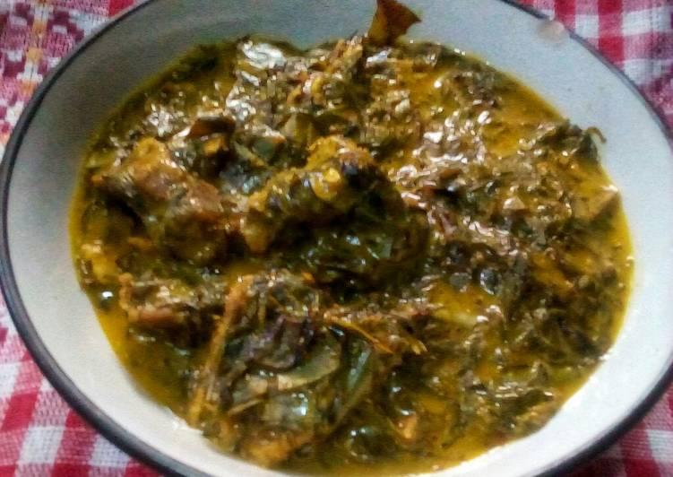 Oha and okazi soup