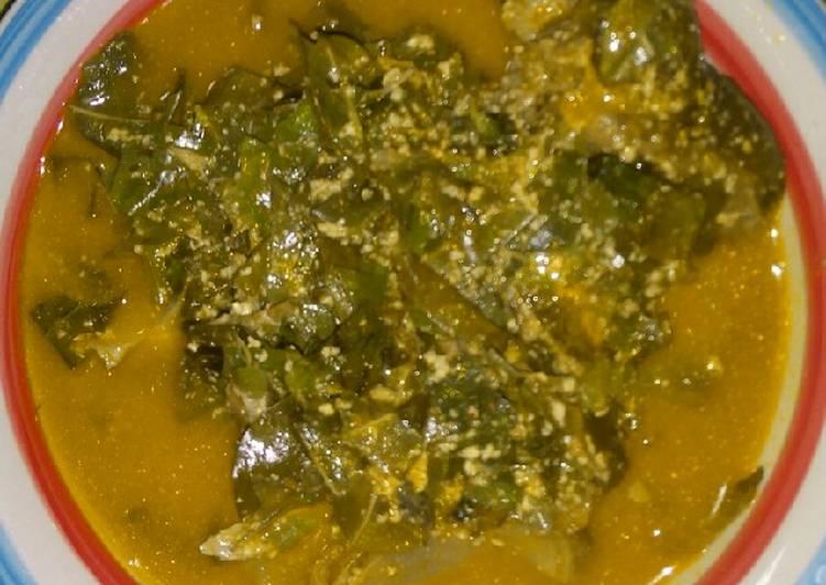 oha mixed with egusi soup recipe main photo