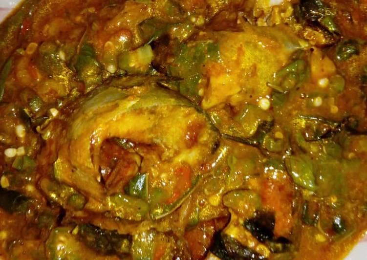oha with okro soup recipe main photo 1