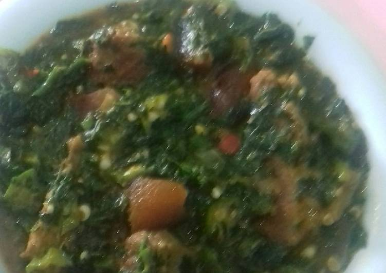 African Food Okro ans vegetable soup