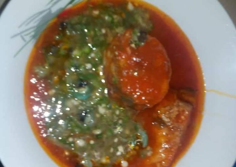 okro soup mix with stew recipe main photo