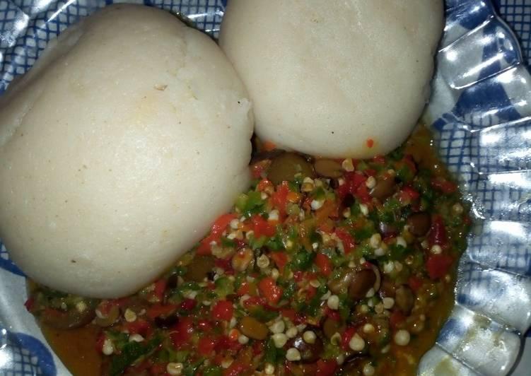 okro soup with semo recipe main photo