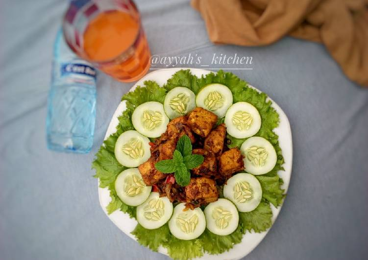 Traditional African Foods Peppered tofu(awara)