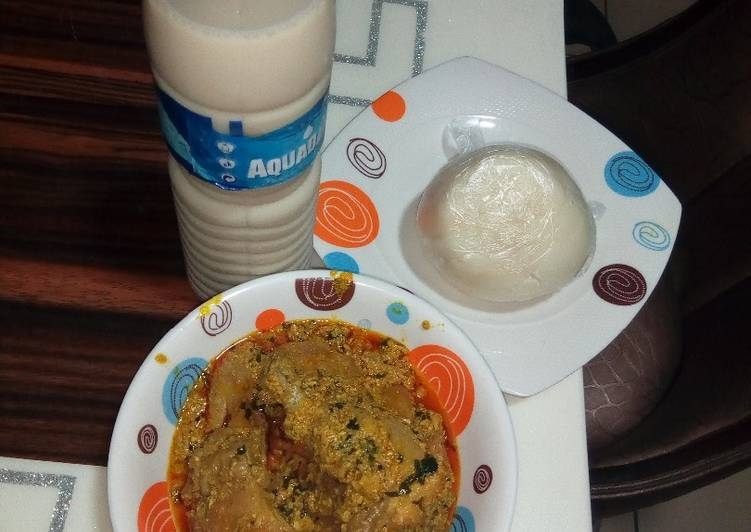 pounded yam and egusi soup recipe main photo 6