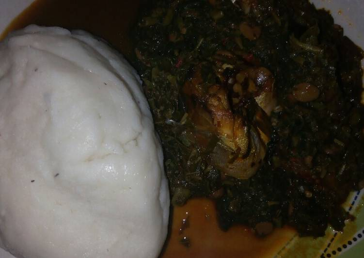 pounded yam with efo riro recipe main photo