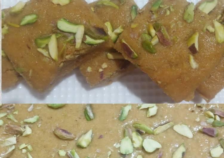 rajasthan ki traditional mohanthal ki recipe besan ki barfi recipe main photo