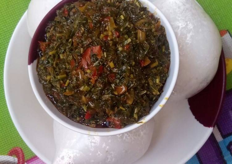 rice swallowvegetable soup recipe main photo