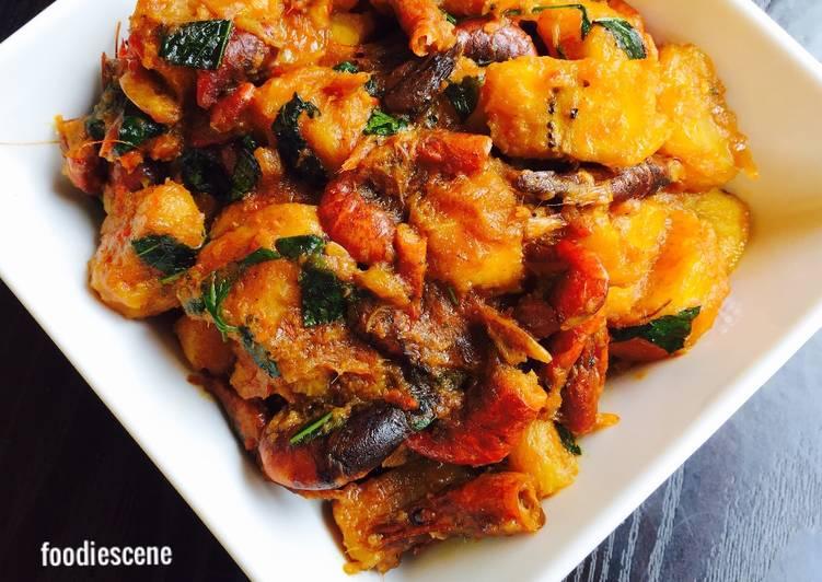 ripe plantain porridge with scent leafs recipe main photo 1