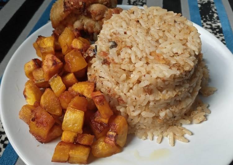 African Cuisine Seafood Coconut Rice #XmasFood 🥂🍾🌲 #Onerecipeonetree