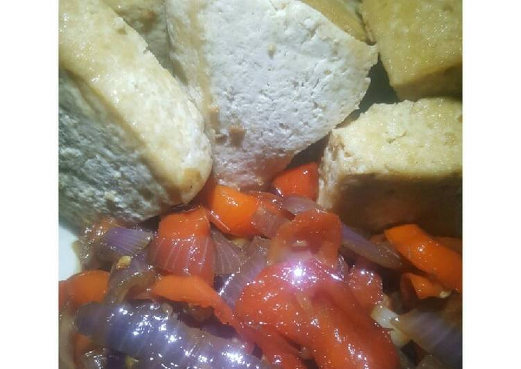 African Dish Semi fried Tofu ll +Vegetable oil sauce