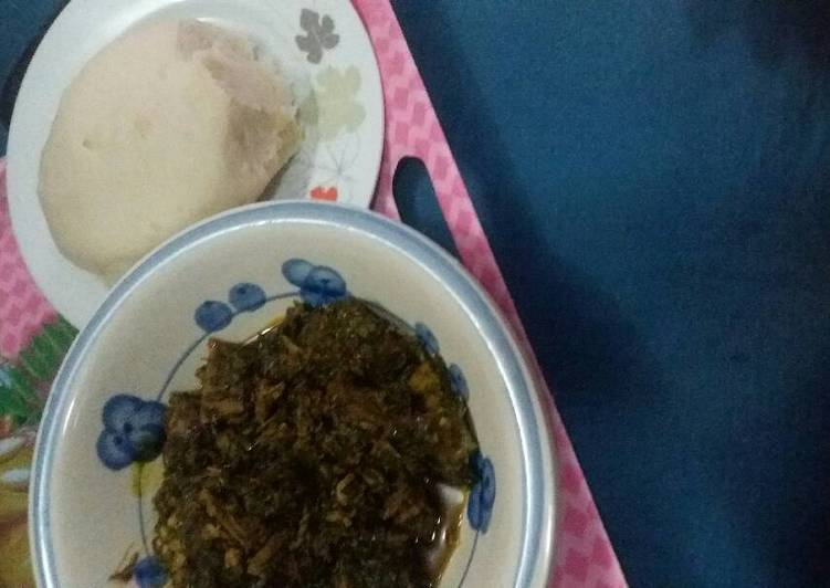 semo and afang soup recipe main photo