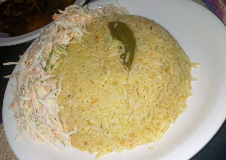 African Dish Simple fried rice