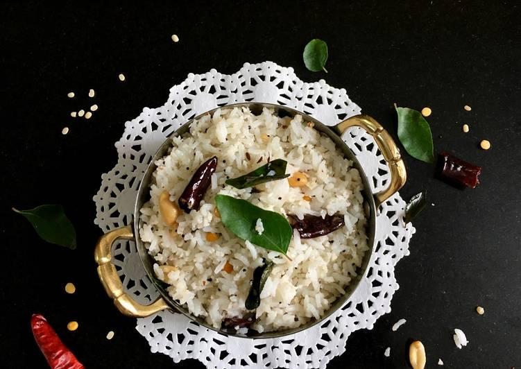south indian coconut rice recipe main photo