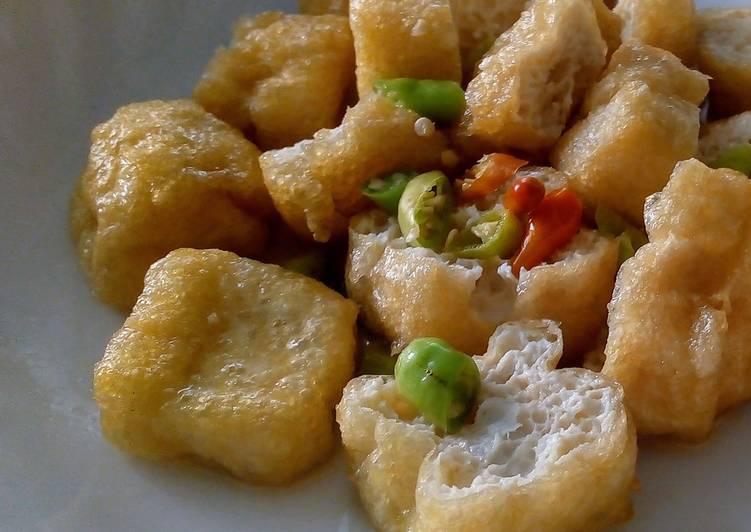 spicy tofu with rice vinegar recipe main photo