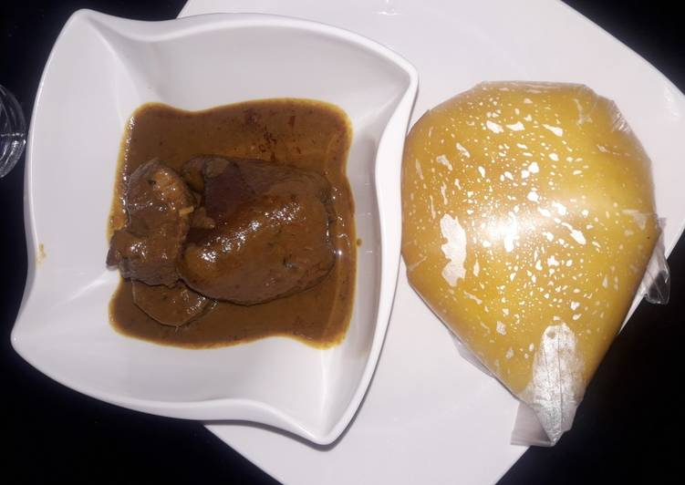 African Dish Starch and banga soup