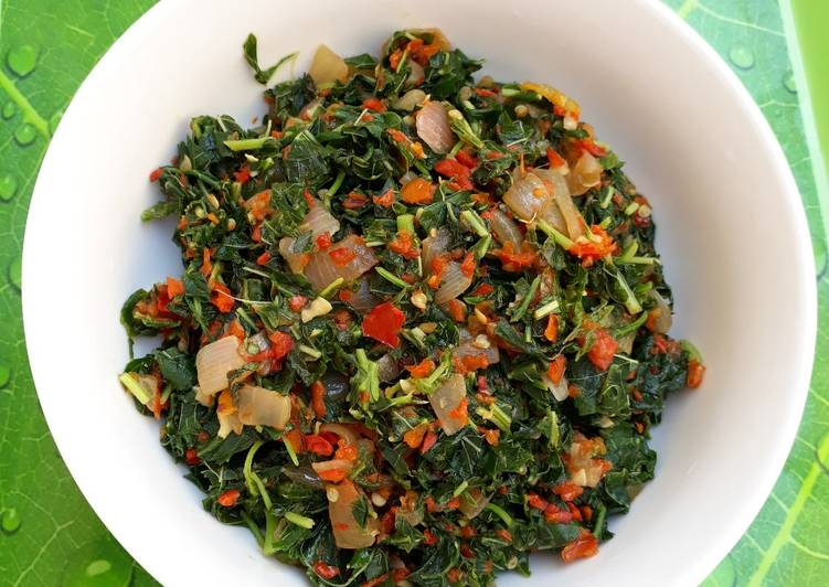 African Cuisine Steamed vegetable (African spinach)