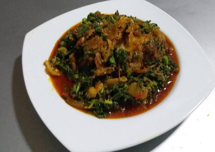 African Dish Stock Fish Eforiro