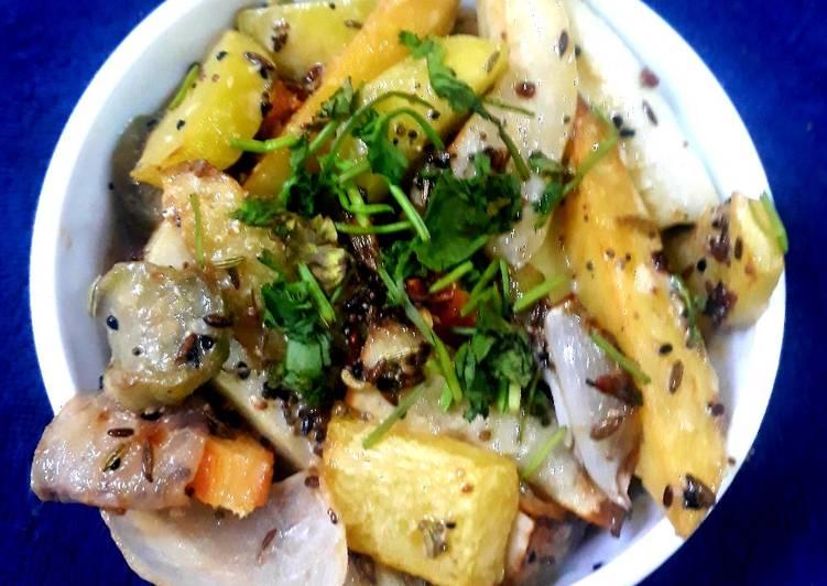 traditional bengali mix vegetables recipe main photo