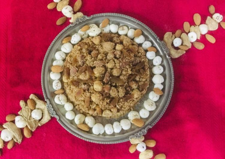traditional dry fruits panjeeri recipe main photo