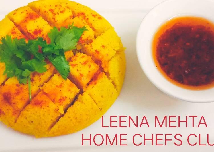 traditional gujarati dhokla recipe main photo