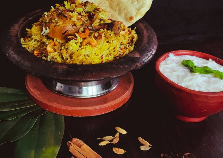 Traditional Kerala Chicken Dum Biriyani